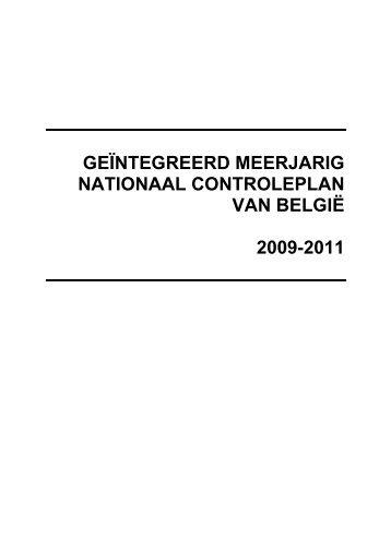 MANCP van België (2009-2011) - Favv