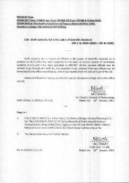 3. Sub: Draft seniority list in the cadre of Scientific Assistant (PB 2 ...