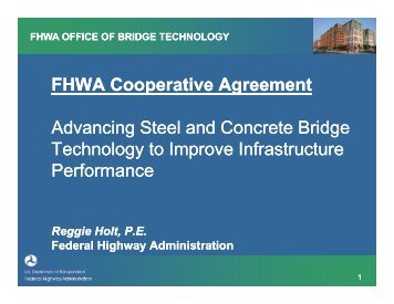 FHWA Cooperative Agreement Advancing Steel and Concrete ...