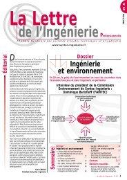 Ingénierie et environnement - Syntec ingenierie