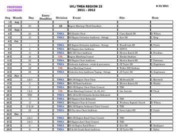 "UIL/TMEA REGION 23 2011 - 2012 - UIL ""ONLINE ENTRY"""