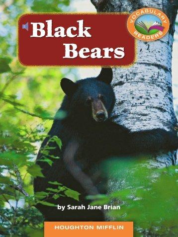 Lesson 7:Black Bears