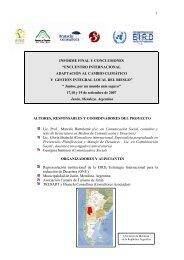 """informe final y conclusiones """"encuentro internacional"""