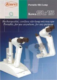 KOWA SL-15 Hand-Held Slit Lamp Brochure - innova