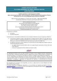 caisses locales affiliées à la caisse régionale de crédit ... - AMF