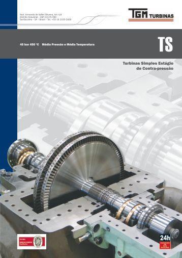 Turbinas Simples Estágio de Contra-pressão - TGM