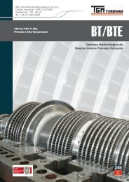 Catálogos Turbinas a vapor BT/BTE - TGM