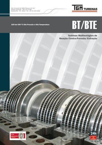 Turbinas Multiestágios de Reação Contra-Pressão/Extração - TGM