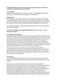 """Teilnahmebedingungen für den Fotowettbewerb """"Ich und ... - studiVZ"""
