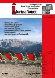 Juni-September - Paul-Gerhardt-Kirchengemeinde - Friedrichshafen