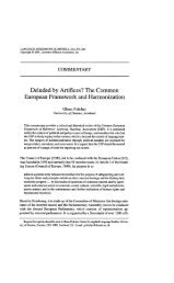 Deluded by Artifices? The Common European Framework and ...