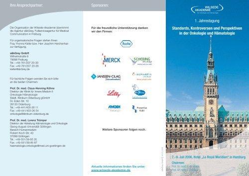 Programm Wilsede_A4_v4.indd - Hämatologie und Onkologie Rostock