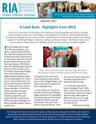 Newsletter 1 - Schlegel Villages