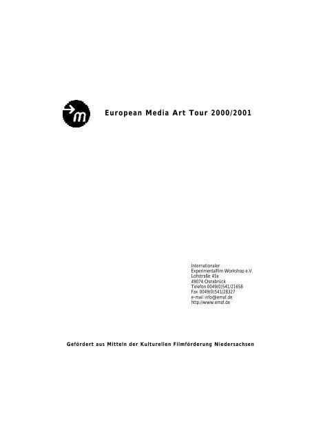 European Media Art Tour 2000/2001 - EMAF