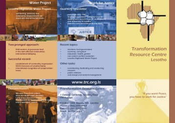 Modern Flyer - the Transformation Resource Centre