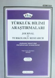 journal of turkology research tubar volume_31