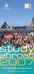 SA 07 Inbound Gen Flyer - International - Macquarie University