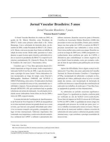 PDF in Portuguese - Jornal Vascular Brasileiro