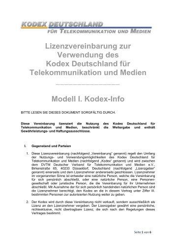 lizenzvertrag dvtm - Lizenzvertrag Muster