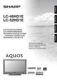 Manual pdf Sharp LC-52HD1E - Onyougo.com