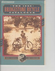 The 1992 Bridgestone Bicycle Catalogue - Sheldon Brown
