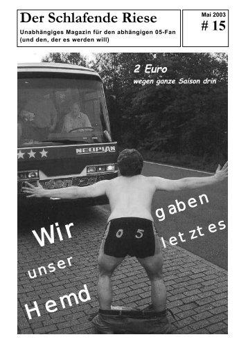 Der Schlafende Riese gaben - RSV Göttingen 05 Fanpage