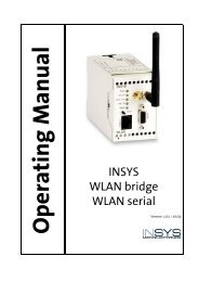 Manual pdf Insys WLAN Bridge