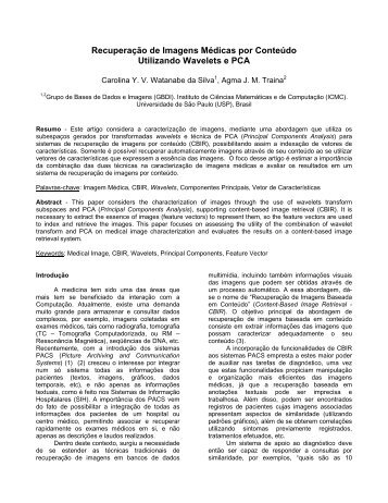Recuperação de Imagens Médicas por Conteúdo Utilizando ... - SBIS