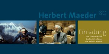Herbert Maeder - Ausserrhodische Kulturstiftung