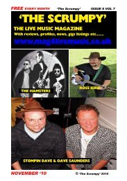THE SCRUMPY NOVEMBER - Mag 4 Live Music