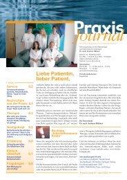 Journal - Schwerpunktpraxis für Hämatologie und Onkologie