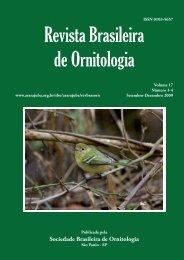 art01 - yabe.indd - Sociedade Brasileira de Ornitologia