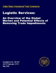 Logistic Services: An Overview of the Global Market and ... - USITC