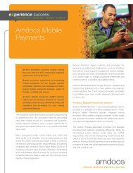 Brochure: Amdocs Mobile Payments