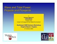 Wave and Tidal Power: Projects and Prospects - ceage - Virginia Tech