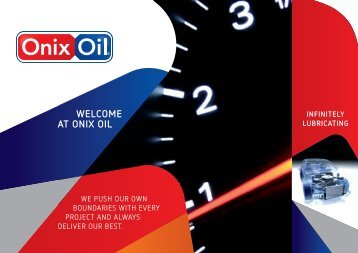 INFINITELY LUBRICATING - Onix Oil