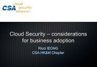 Cloud Security – considerations for business adoption