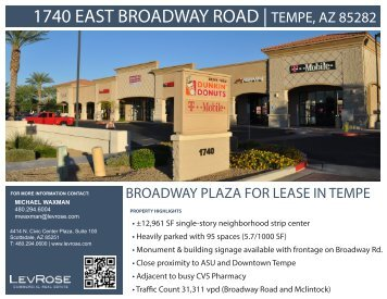 1740 EAST BROADWAY ROAD | TEMPE, AZ 85282