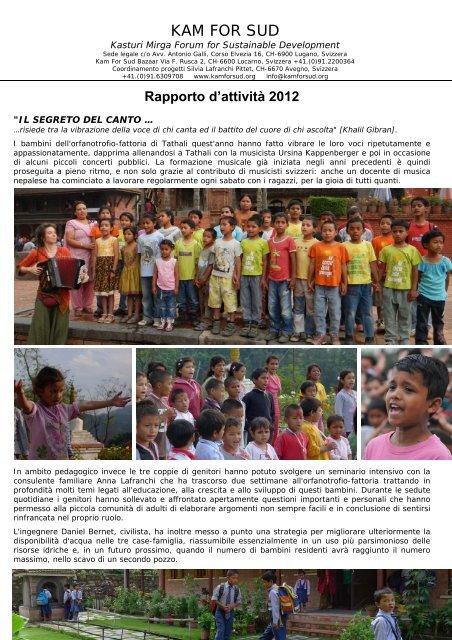2012 - Kam For Sud