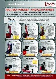 TECO 36 - Orodja in oprema