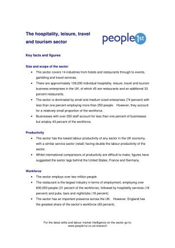[PDF] The hospitality, leisure, travel and tourism sector - People 1st
