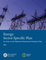 Energy Sector-Specific Plan 2010 - Homeland Security