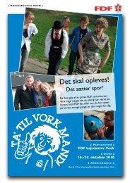 Invitation til Seniorkursus, Vork - Leder - FDF