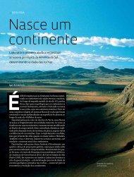 nasce um continente - Revista Pesquisa FAPESP