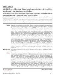 Atividade de vida diária dos pacientes em tratamento de diálise ...
