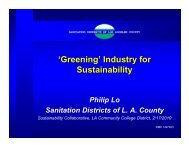 'Greening' Industry for Sustainability - LACCD Builds Green