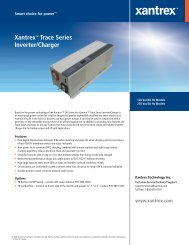 Xantrex™ Trace Series Inverter/Charger - Solar Panels
