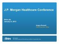 J.P. Morgan Conference - Shire