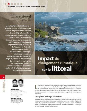 Impact du changement climatique sur le littoral - BRGM
