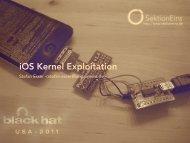 IOS Kernel Exploitation – Black Hat - here